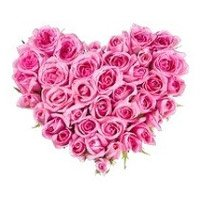Heart Shape Flowers to India