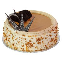 Midnight Cakes Delivery in India - Butter Scotch Cake From 5 Star
