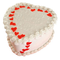 Heart Shape Cake Delivery in India. 2 Kg Heart Shape Butter Scotch Cake to India