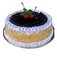 Midnight Cake Delivery in Kanpur - 1 Kg Blue Berry Cake
