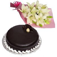 Send Cake to India along with Early Morning Flowers to India