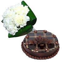 Send Carnation Flowers to India including Midnight Cakes in India