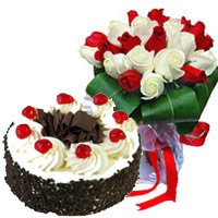 Midnight Flowers Delivery in India along with Cakes to India