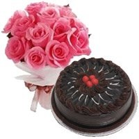 Birthday Cakes to India Same Day Deliver with Roses to India