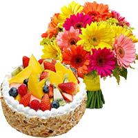 Cake in India - Gerbera 1 Kg Fruit Cake From 5 Star Hotel