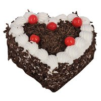 Send Cake to India - Black Forest Heart
