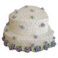 Cakes in India including 3 Kg Two Tier Heart Shape Vanilla Cake in India