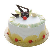 Send Online Cakes to India - Pineapple Cake From 5 Star