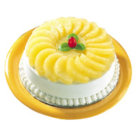 Same Day Cake to India - Pineapple Cake From 5 Star
