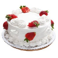 Send Cakes to India - Strawberry Cake From 5 Star