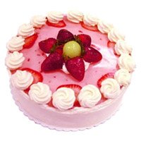 Early Morning Cake to India - Strawberry Cake From 5 Star