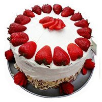 Cakes in India - Strawberry Cake From 5 Star
