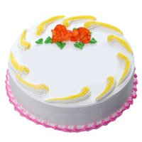 Deliver Eggless Cakes in India - Vanilla Cake to India